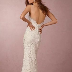 Anthropologie BHLDN Jolie Lace Wedding Dress 0 XS